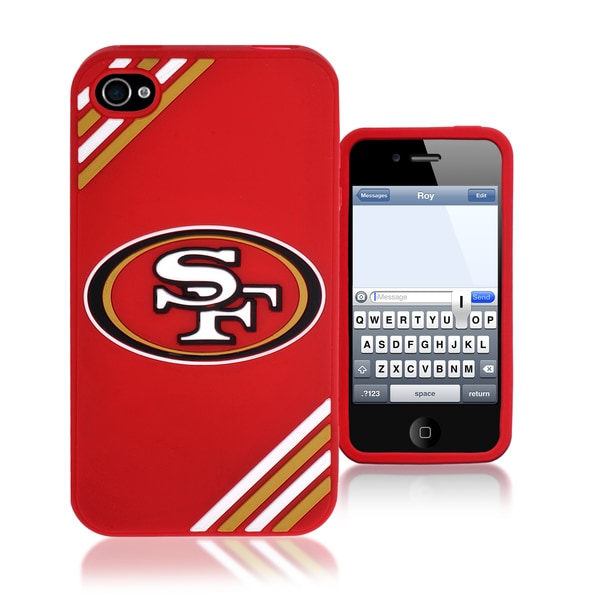 Forever Collectibles NFL San Francisco 49ers iPhone 4/4S Silicone Phone Case