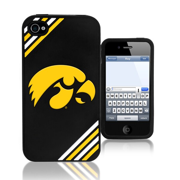Forever Collectibles NCAA Iowa Hawkeyes iPhone 4/4S Silicone Phone Case
