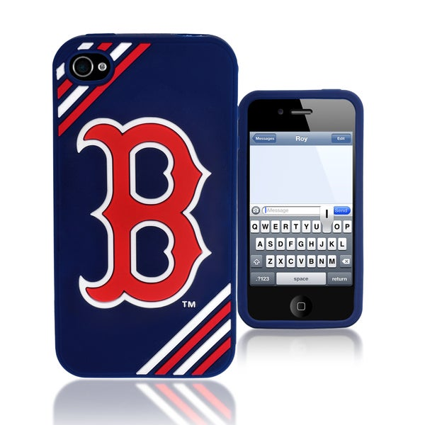 MLB Boston Red Sox 4/ 4S Silicone Phone Case