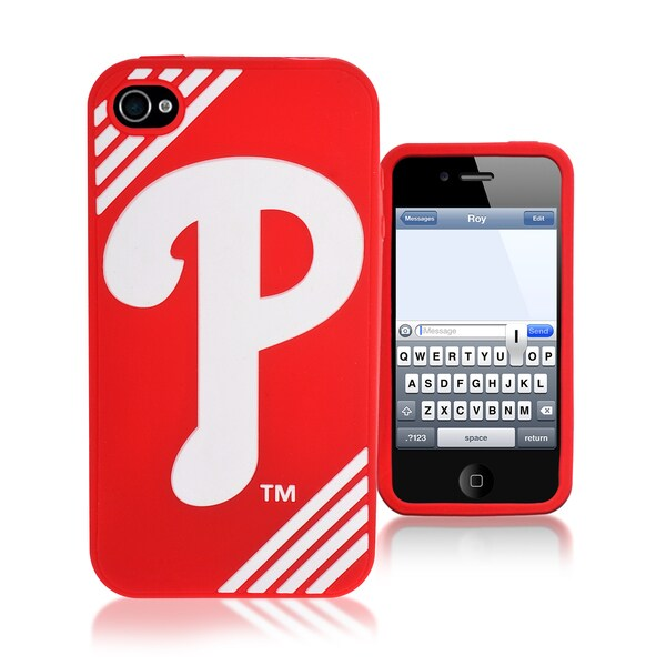 Forever Collectibles MLB Philadelphia Phillies iPhone 4/ 4S Silicone Phone Case