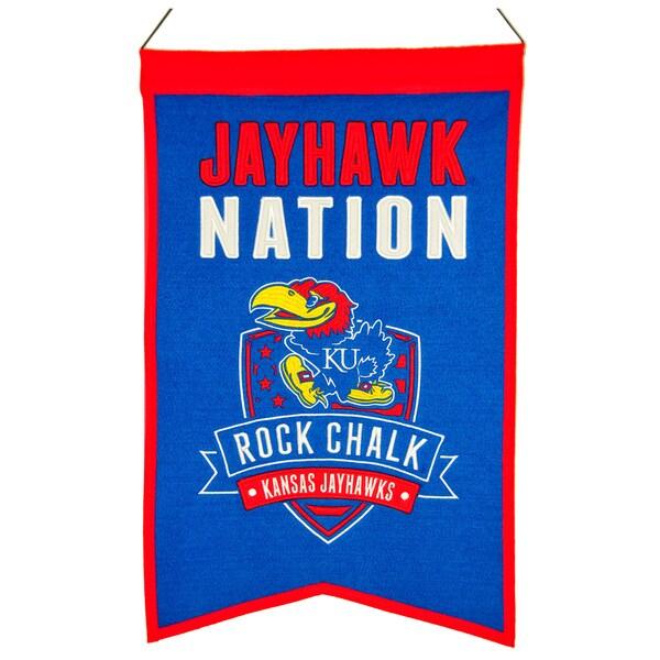 NCAA Kansas Jayhawks Wool Nations Banner