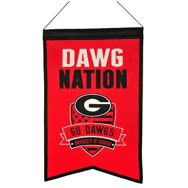 NCAA Georgia Bulldogs Wool Nations Banner