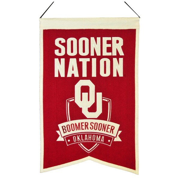 NCAA Oklahoma Sooners Wool Nations Banner