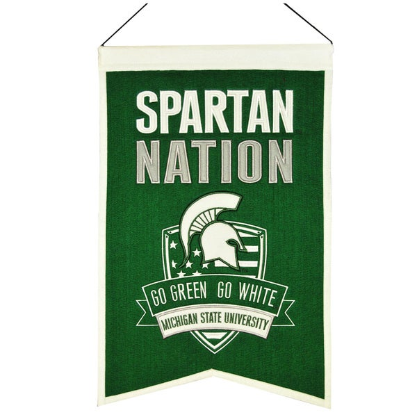 NCAA Michigan State Spartans Wool Nations Banner