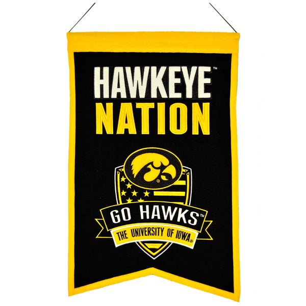 NCAA Iowa Hawkeyes Wool Nations Banner