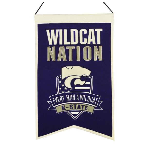 NCAA Kansas State Wildcats Wool Nations Banner