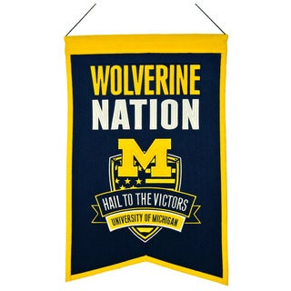 NCAA Michigan Wolverines Wool Nations Banner