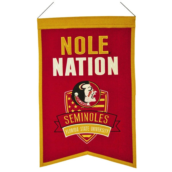 NCAA Florida State Seminoles Wool Nations Banner