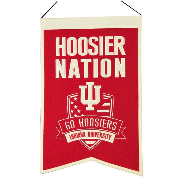NCAA Indiana Hoosiers Wool Nations Banner