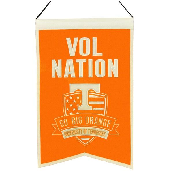 NCAA Tennessee Volunteers Wool Nations Banner