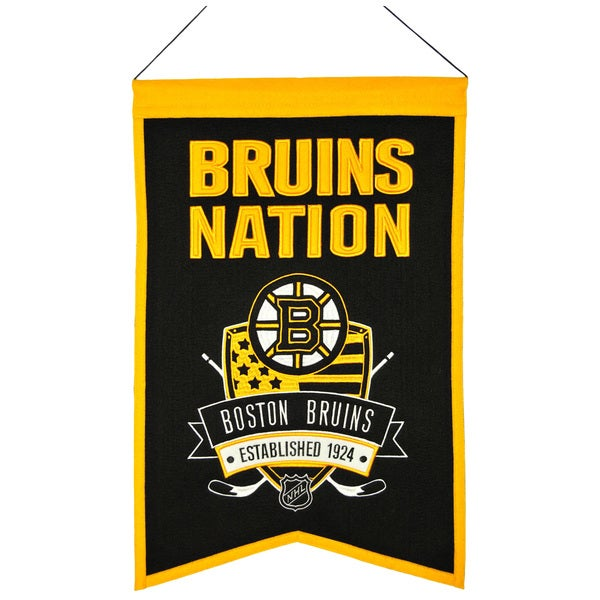 NHL Boston Bruins Wool Nations Banner