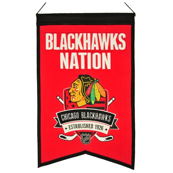 NHL Chicago Blackhawks Wool Nations Banner