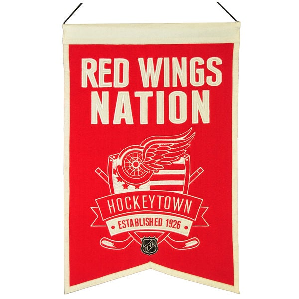 NHL Detroit Redwings Wool Nations Banner