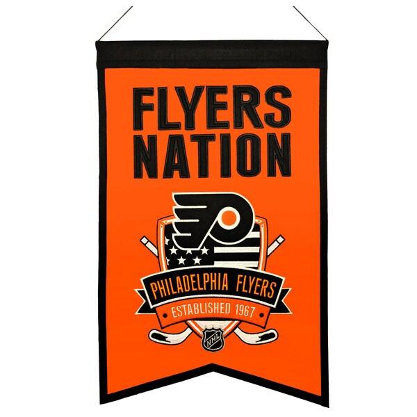 NHL Philadelphia Flyers Wool Nations Banner