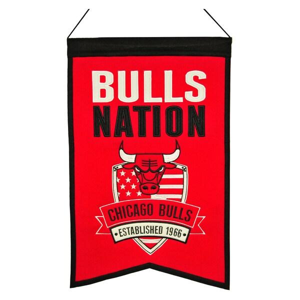 NBA Chicago Bulls Wool Nations Banner