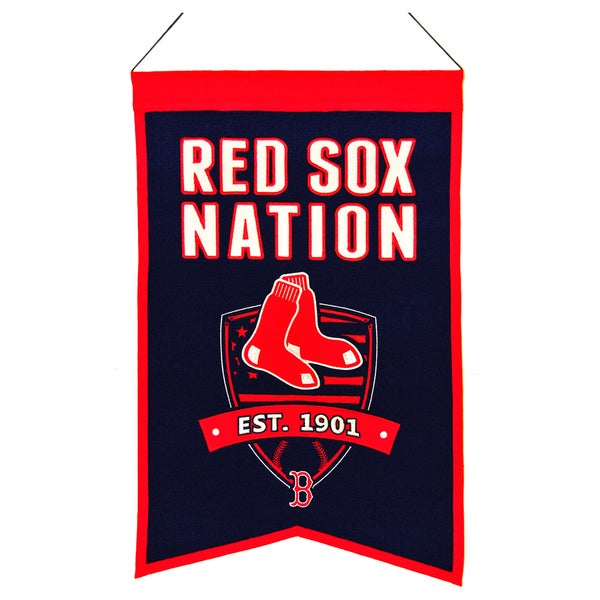 MLB Boston Red Sox Wool Nations Banner