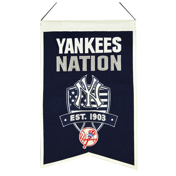 MLB New York Yankees Wool Nations Banner