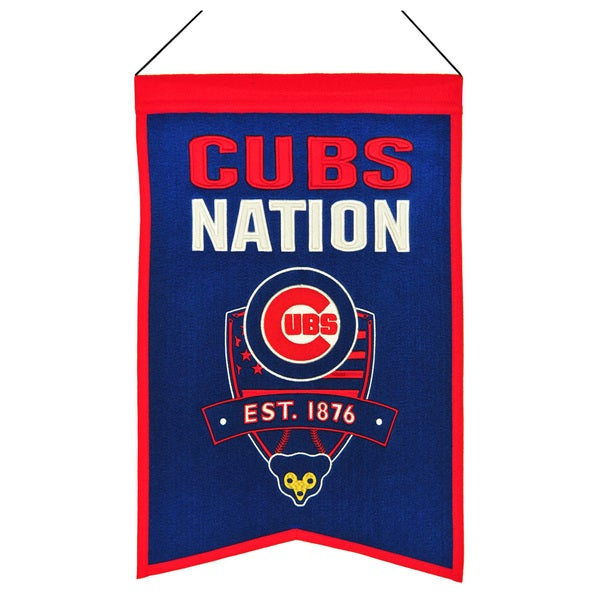 MLB Chicago Cubs Wool Nations Banner