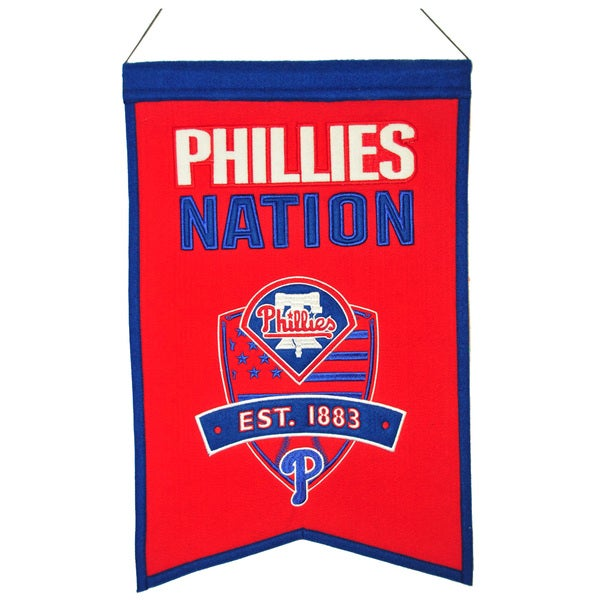 MLB Philadelphia Phillies Wool Nations Banner