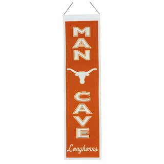 NCAA Texas Longhorns Wool Man Cave Embroidered Banner