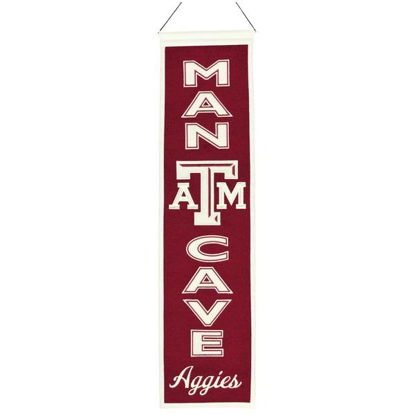 NCAA Texas A & M University Aggies Wool Man Cave Banner
