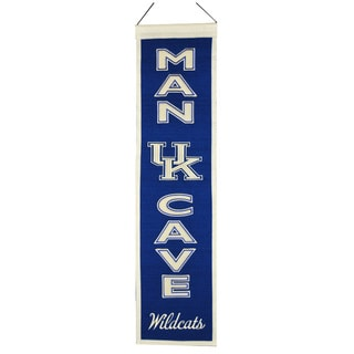 NCAA Kentucky Wildcats Wool Man Cave Embroidered Banner