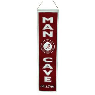 NCAA Alabama Crimson Tide Man Cave Embroidered Banner