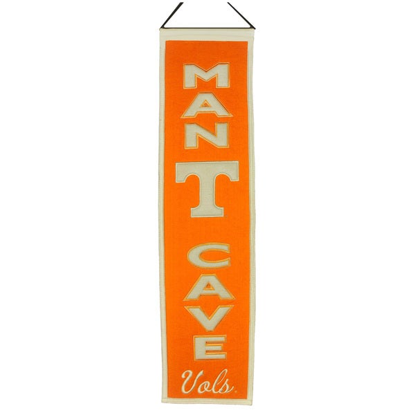 NCAA Tennessee Volunteers Man Cave Embroidered Banner