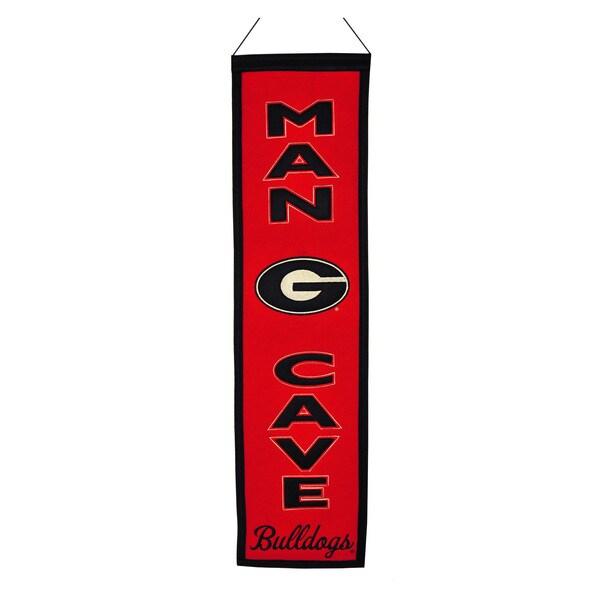 NCAA Georgia Bulldogs Wool Man Cave Embroidered Banner