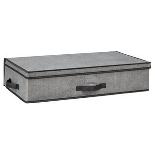 Kennedy Home Collection Grey 28-inch Underbed Storage Box