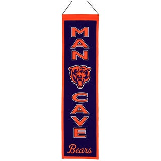 NFL Chicago Bears Wool Man Cave Embroidered Banner