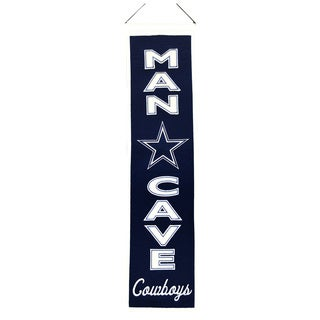 NFL Dallas Cowboys Wool Man Cave Embroidered Banner