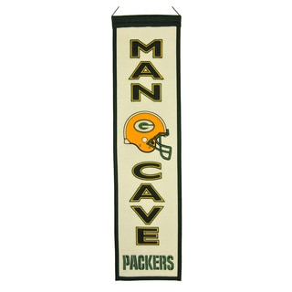 NFL Green Bay Packers Wool Man Cave Embroidered Banner