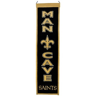NFL New Orleans Saints Wool Man Cave Embroidered Banner