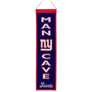 NFL New York Giants Wool Man Cave Embroidered Banner