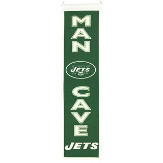NFL New York Jets Wool Man Cave Embroidered Banner