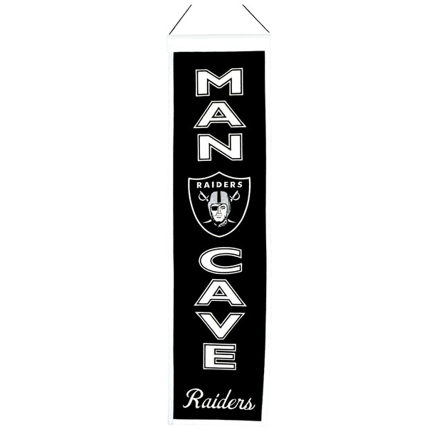 NFL Oakland Raiders Wool Man Cave Embroidered Banner