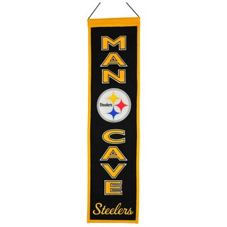 NFL Pittsburgh Steelers Man Cave Embroidered Banner