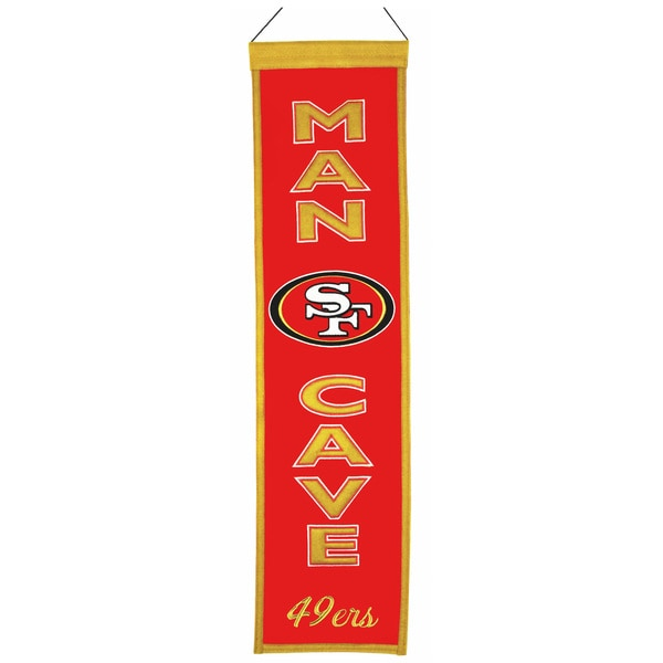 NFL San Francisco 49ers Man Cave Embroidered Banner