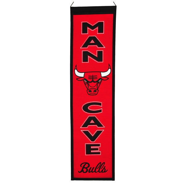 NBA Chicago Bulls Wool Man Cave Embroidered Banner