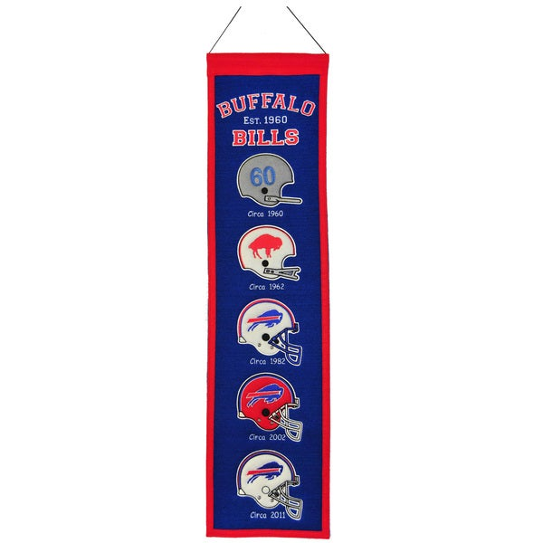 NFL Buffalo Bills Wool Heritage Banner