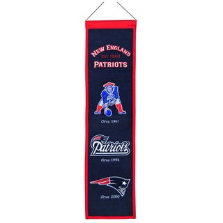 NFL New England Patriots Wool Heritage Banner