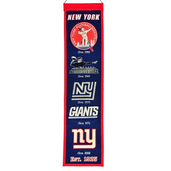 NFL New York Giants Wool Heritage Banner
