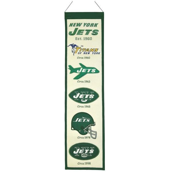 NFL New York Jets Wool Heritage Banner