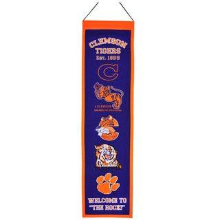 NCAA Clemson Tigers Wool Heritage Banner