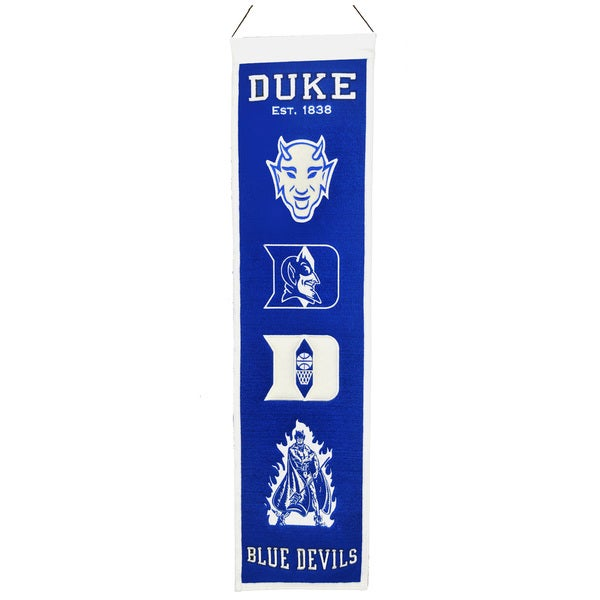 NCAA Duke University Blue Devils Wool Heritage Banner