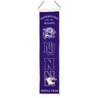 NCAA Northwestern Wildcats Wool Heritage Banner