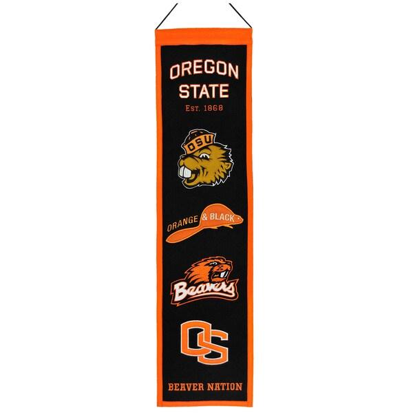 NCAA Oregon State Beavers Wool Heritage Banner