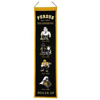 NCAA Purdue Boilermakers Wool Heritage Banner