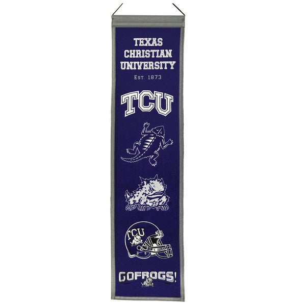 NCAA TCU Horned Frogs Wool Heritage Banner